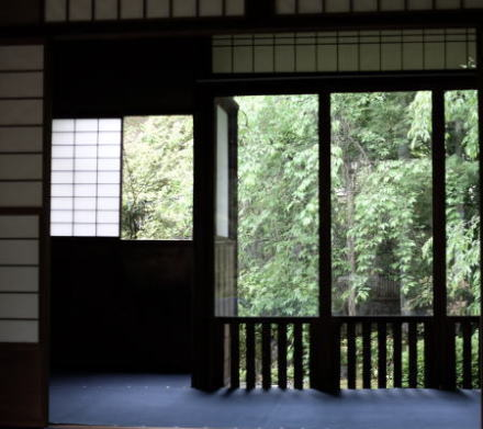 Inside an old house in Kyoto