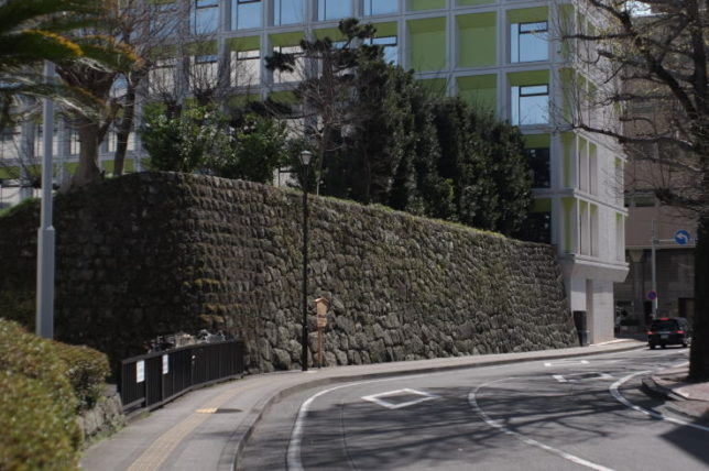The stone wall which is thought to have belonged to Imagawa clan in the 16th century