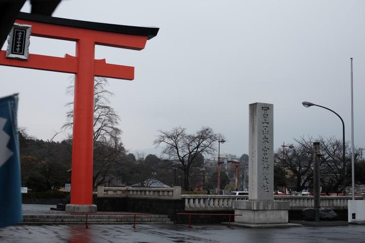 Torii gate of Japanese shinto shrine
